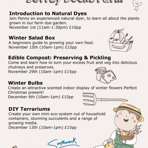 Winter Workshops at Surrey Quays Farm