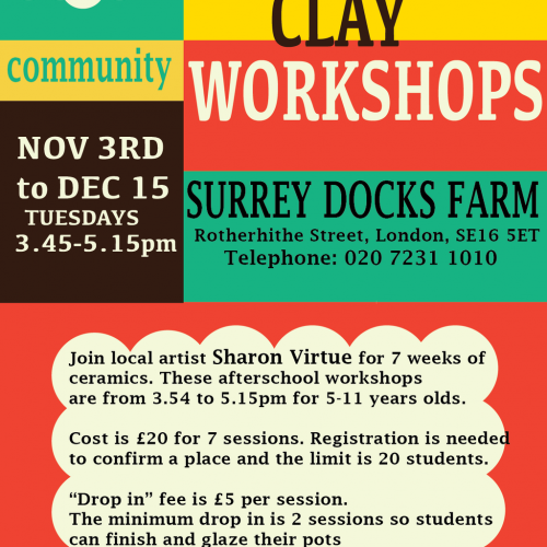 After School Clay Workshops in Surrey Docks Farm
