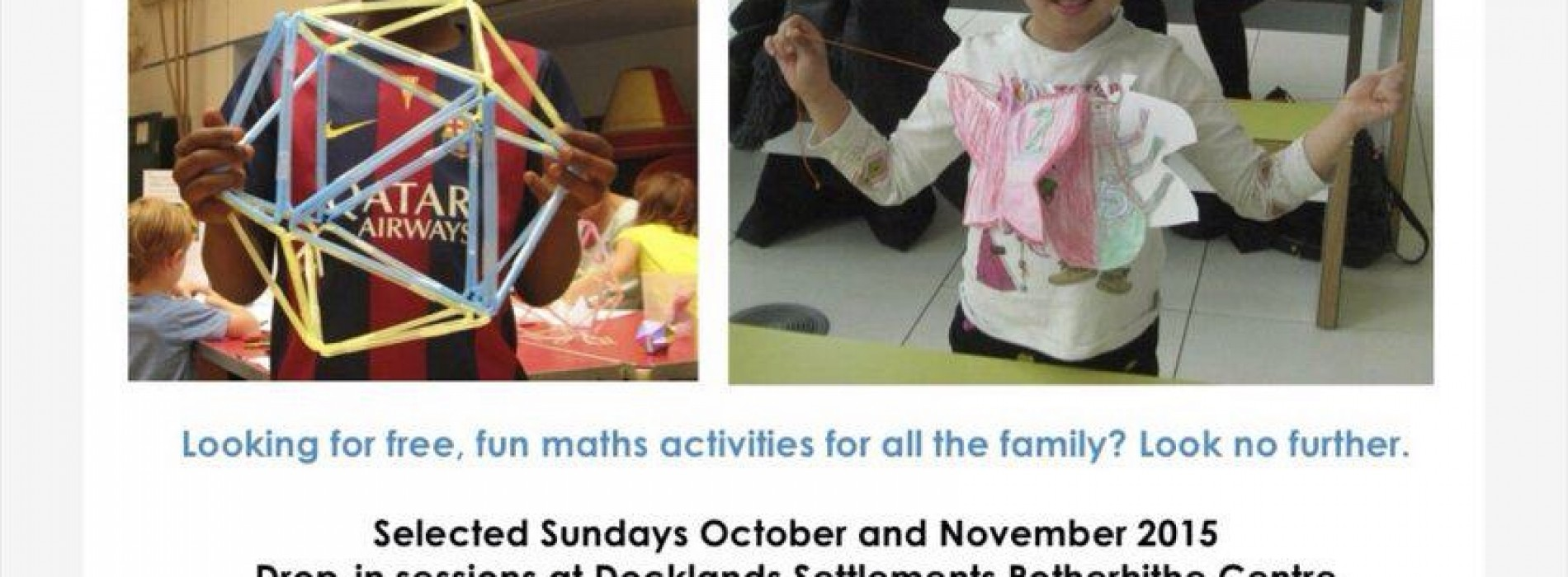 Maths On Toast presents The Shape Parade at Rotherhithe Centre