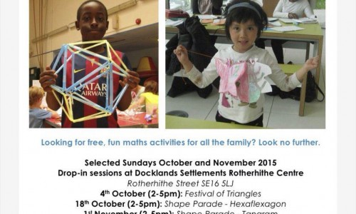 Maths On Toast presents Numbers X Fun at Rotherhithe Centre