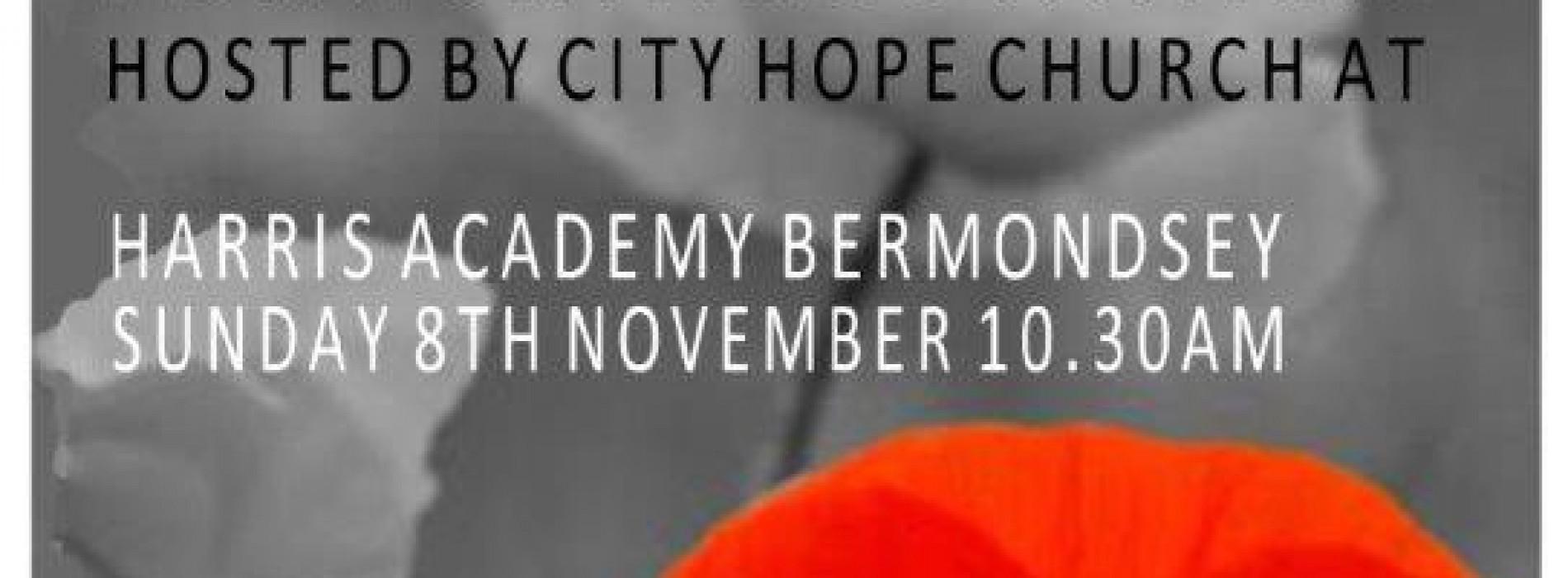Remembrance Sunday Service in The Blue Bermondsey