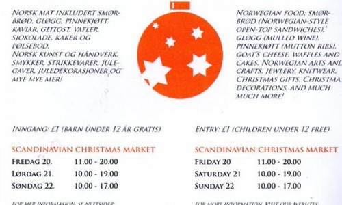 Christmas Bazaar at the Norwegian Church in Rotherhithe