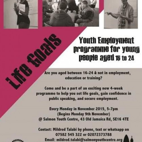 Life Goal Youth Employment programme, ages 16-24