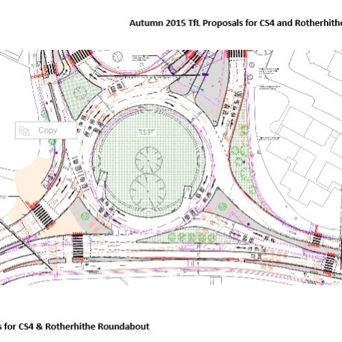 Traffic: Autumn 2015 TfL Proposals for CS4 and Rotherhithe Roundabout