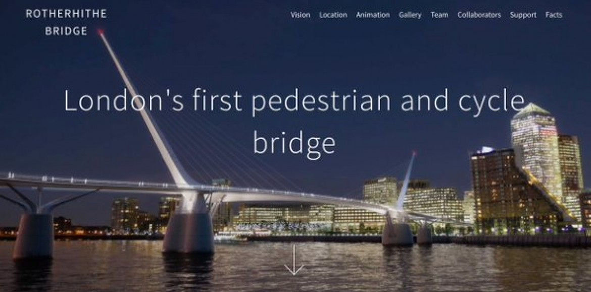 Bridging the future, the Rotherhithe Pedestrian crossing