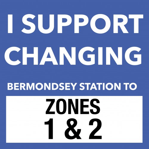 Changing Bermondsey Station to Zone 1-2
