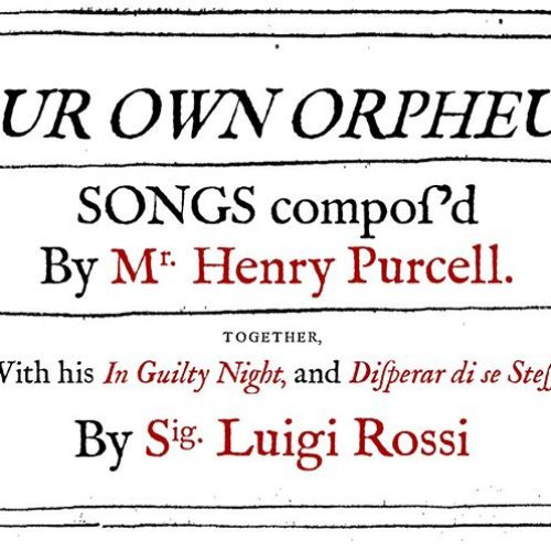 Concert- Our Own Orpheus by Mvsica Antica Rotherhithe