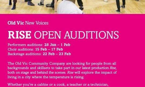 The Old Vic Theatre Rise Open Auditions