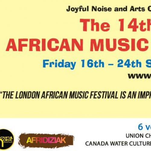 The 14th London African Music Festival in Canada Water