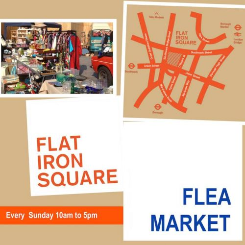 Flat Iron Square Flea market in SE1