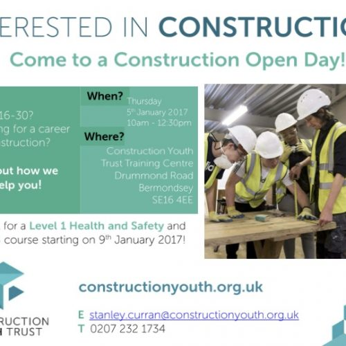 Construction Youth Trust – CSCS Training