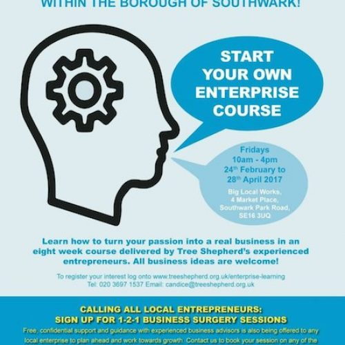 Start Your Own Enterprise course in Bermondsey