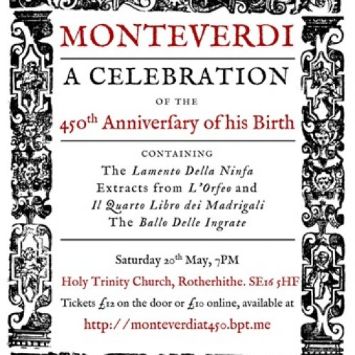 Mvsica Antica presents Monteverdi at 450