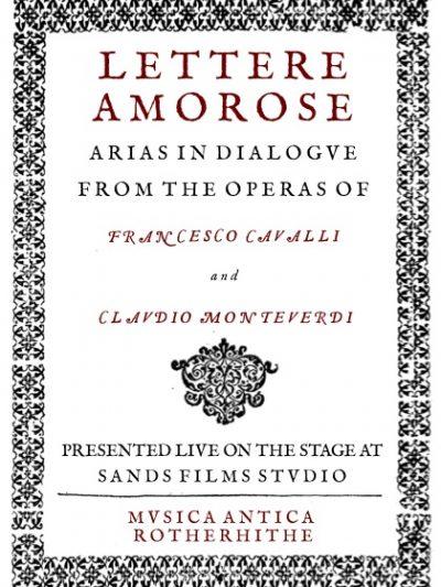 Classical Music – Mvsica Antica presents Lettere Amorose