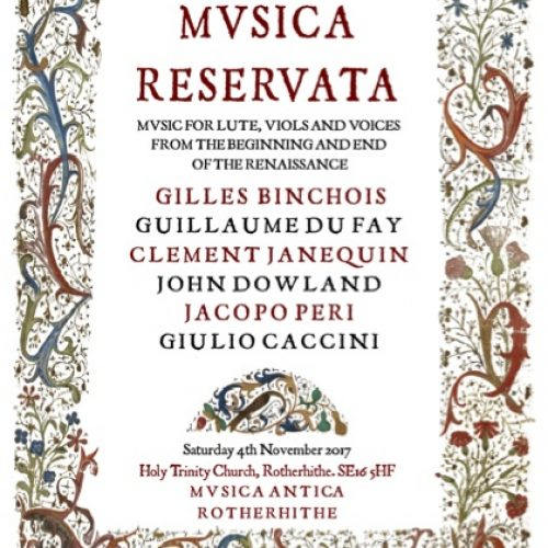 Classical Music – Musica Antica presents Musica Reservata