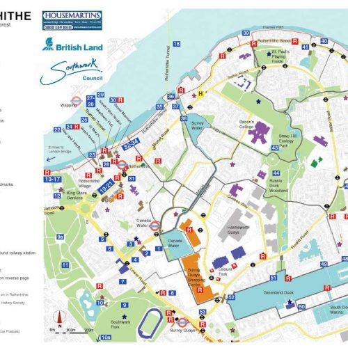 Explore the peninsula with the What's On Rotherhithe Group Rotherhithe Map