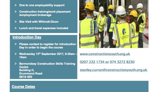 Construction Youth Budding Builders Programme September 2017