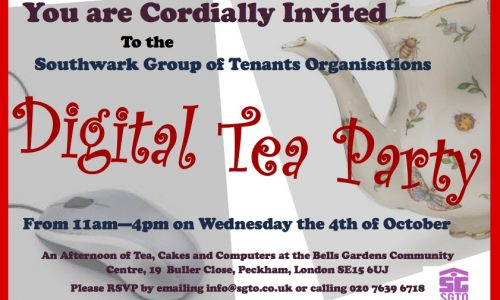 Southwark Group Of Tenants Organisations – Digital Tea Party