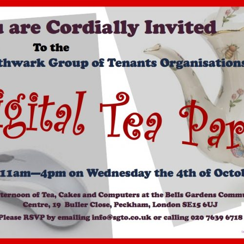 Southwark Group Of Tenants Organisations – Digital Tea Party