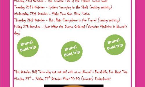 Brunel Museum Half Term Halloween activities