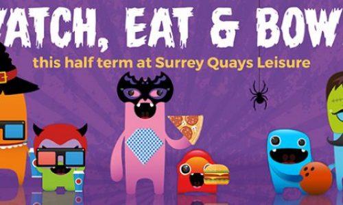 Halloween October half term activities at Surrey Quays Leisure