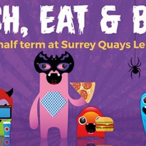 Halloween October half term activities at Surrey Quays Leisure