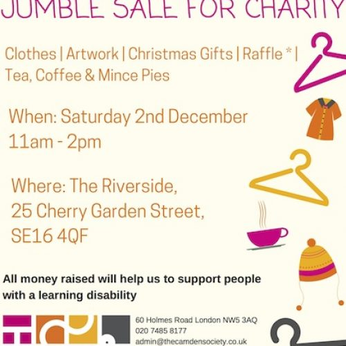 Riverside Centre Jumble Sale in Bermondsey