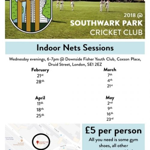 Southwark Park Cricket Club Indoor Nets Session