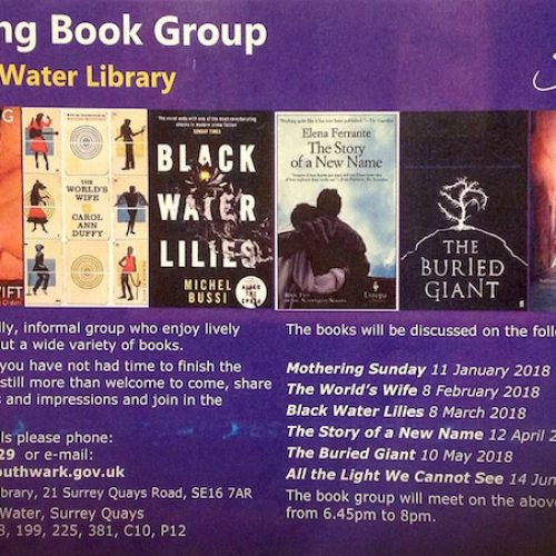 Canada Water Library Evening Group Book January to June 2018
