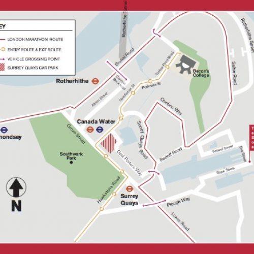 Virgin London Marathon 2018 – Information for Rotherhithe residents