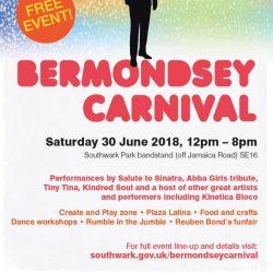 Free Bermondsey Carnival 2018 at Southwark Park