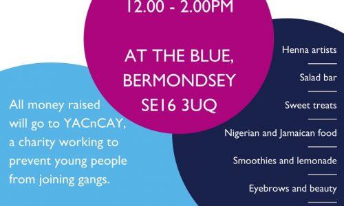 Ark Globe Academy Charity Market In The Blue, Bermondsey