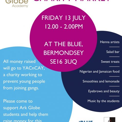 Ark Globe Academy Charity Market In The Blue, Bermondsey