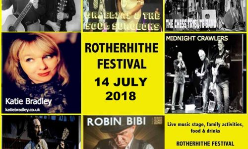 Rotherhithe Festival 2018, a family day out with music and free children rides