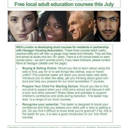 Free local adult education courses at Big Local Works