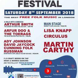 Bermondsey  Folk Festival 2018, the best free folk music in SE London