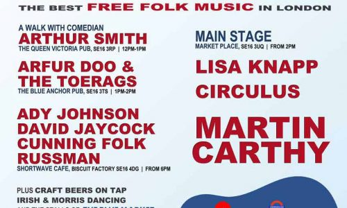 Bermondsey  Folk Festival 2018, the best free folk music in SE London