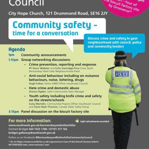 Bermondsey Rotherhithe Community Council September 2018