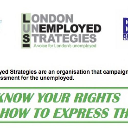 Know Your Rights and How to Express Them workshops at Big Local Works