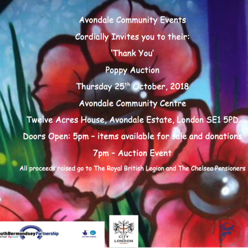 Avondale Community Event Thank You Poppy Auction