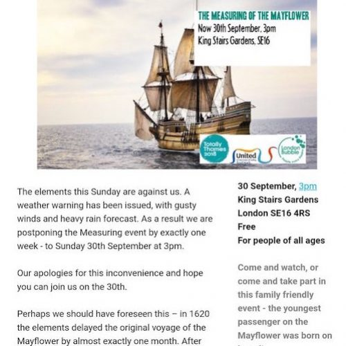 The Measuring of The Mayflower