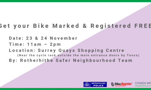 Free Bike-marking event at Surrey Quays