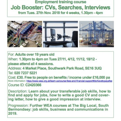Employment training course Job Booster: CVs, Searches, Interviews
