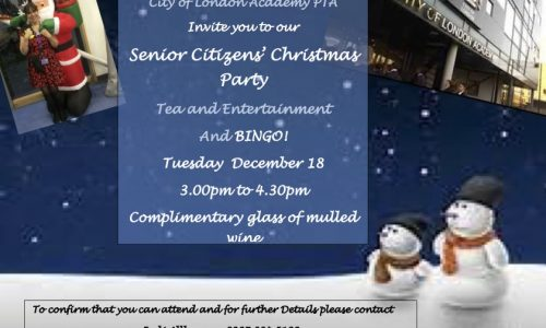 Southwark Cola Senior Citizens' Christmas Party