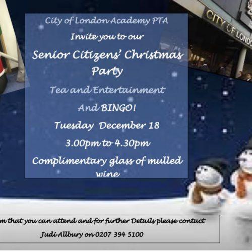 Southwark Cola Senior Citizens' Christmas Party
