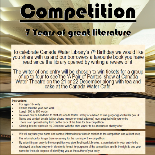 Canada Water Library Book Review Competition