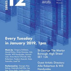Borough New Music Series 12 – January 2019