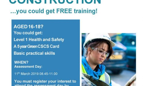 Construction Youth Trust Level 1 Health and Safety course March 2019