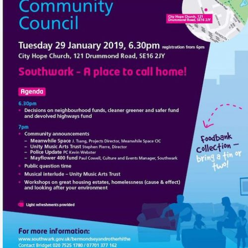Bermondsey Rotherhithe Community Council January 2019