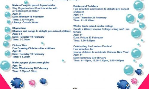 Canada Water Library Half Term Activities for Children